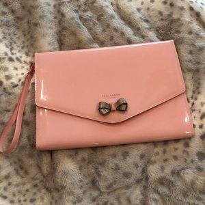 Ted Baker London pink bow envelope clutch